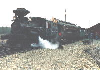 No 3 with first train to Sumpter in 1991.